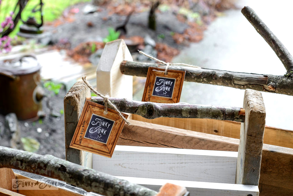 pallet wood reclaimed wood toolbox kits with branch handles by FunkyJunkInteriors.net