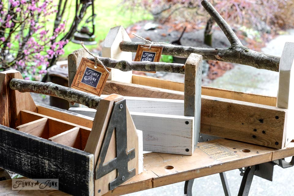 Branch Handled Toolboxes By FunkyJunkInteriors.net