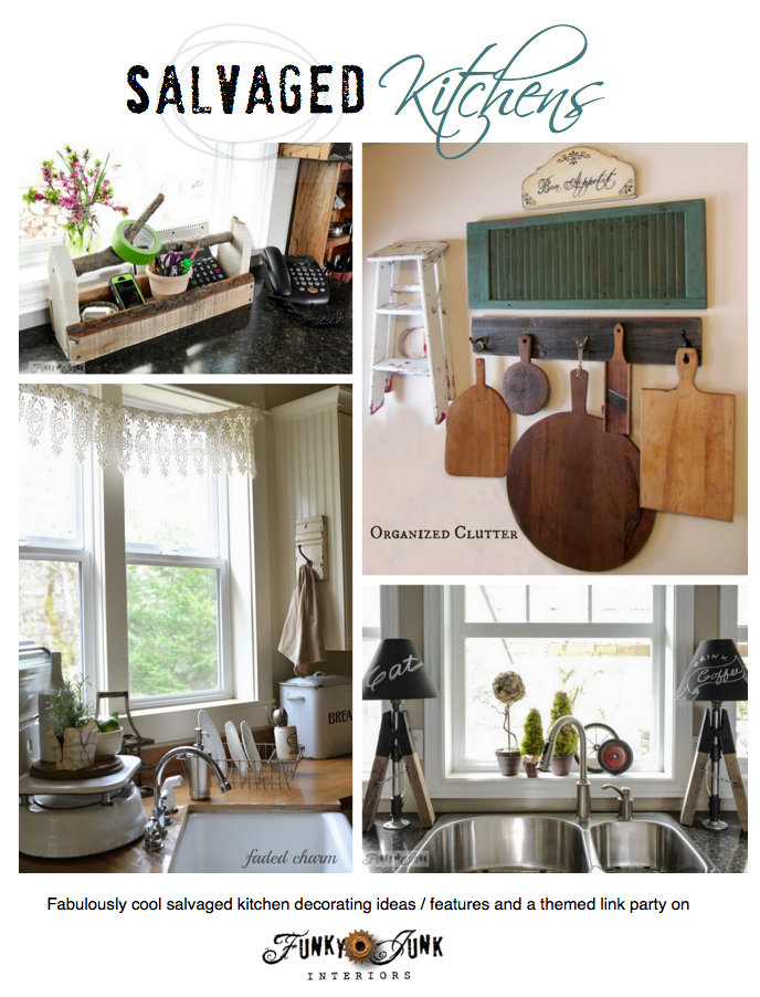 Salvaged kitchen decorating ideas! Creative features with a themed linkup on FunkyJunkInteriors.net  sc 1 st  Funky Junk Interiors & Salvaged kitchen decorating ideas from crates to sawhorses!Funky ...