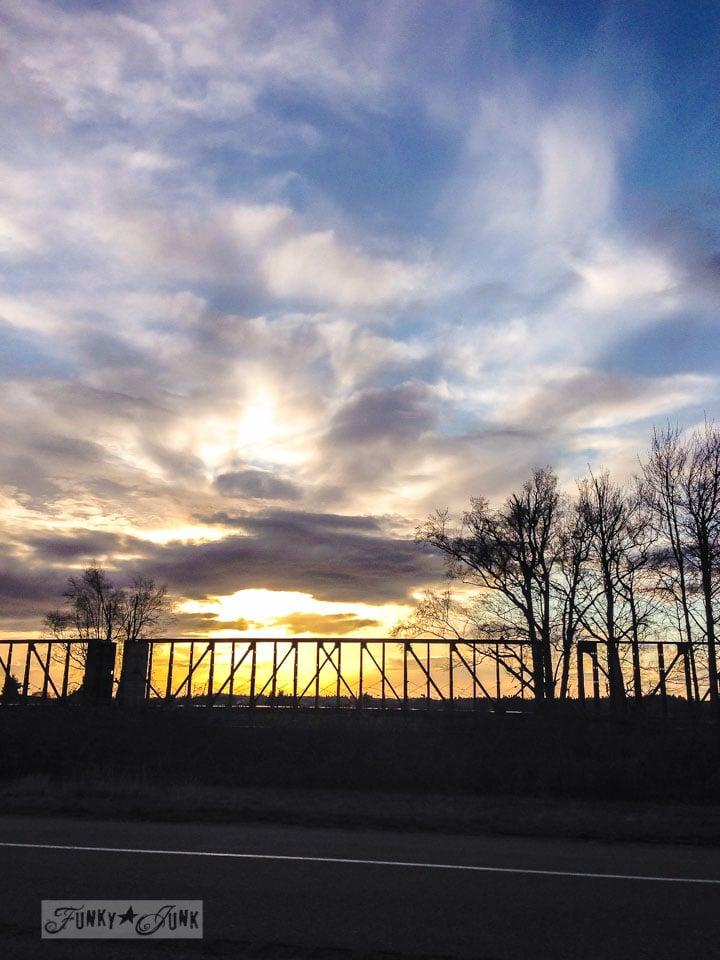 Train sunset picture in Sumas, Washington / An impromptu family day in Washington via FunkyJunkInteriors
