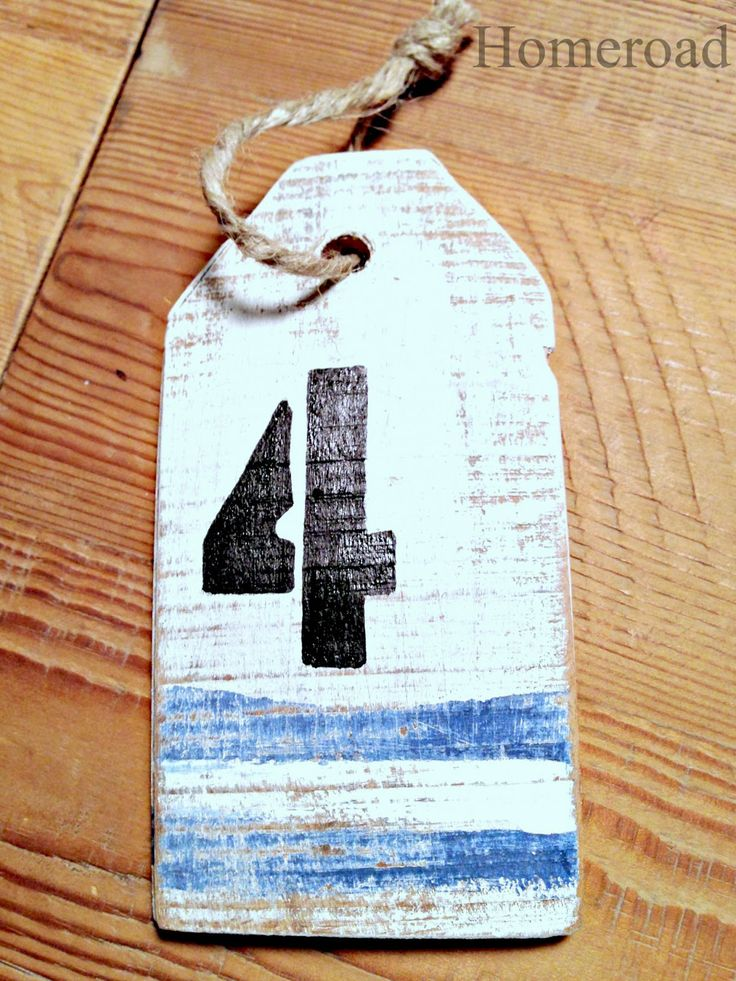 Nautical buoy styled reclaimed wood tags by Homeroad