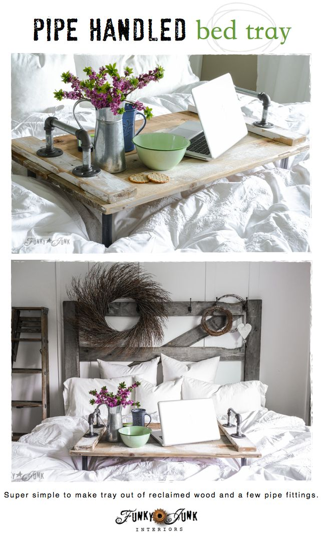 Springing up the bedroom with a pipe handled bed trayfunky - How to decorate my bedroom ...