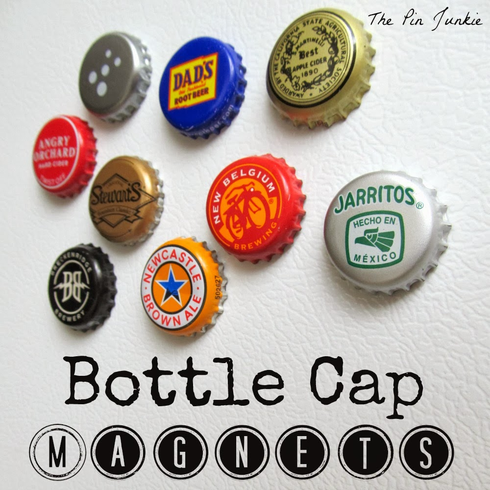 Bottle cap magnets, by The Pin Junkie