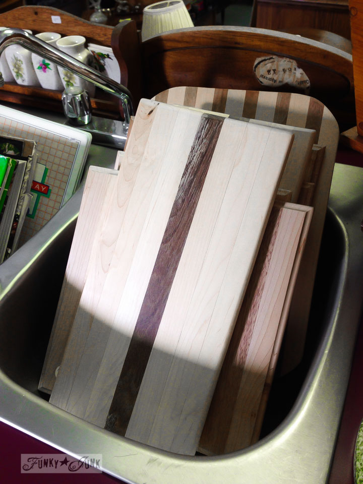 Handmade cutting boards / part of 3 days of fabulous junk shopping via FunkyJunkInteriors.net