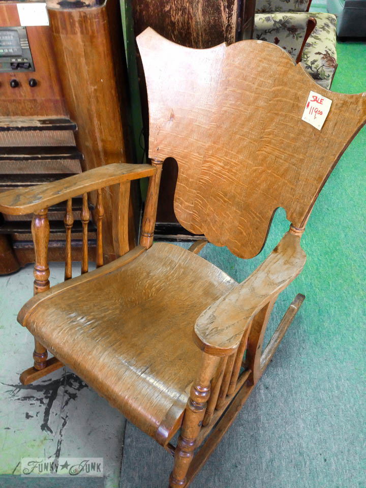 fabulous curvy rocking chair / part of 3 days of fabulous junk via FunkyJunkInteriors.net