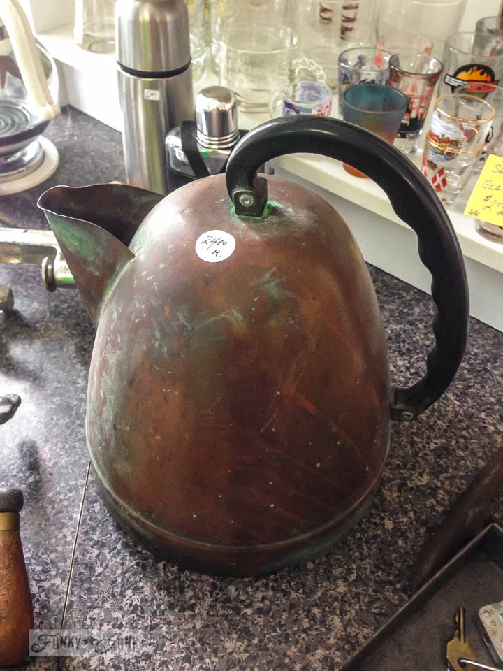 Quirky rusty kettle / part of 3 days of fabulous junk via FunkyJunkInteriors.net