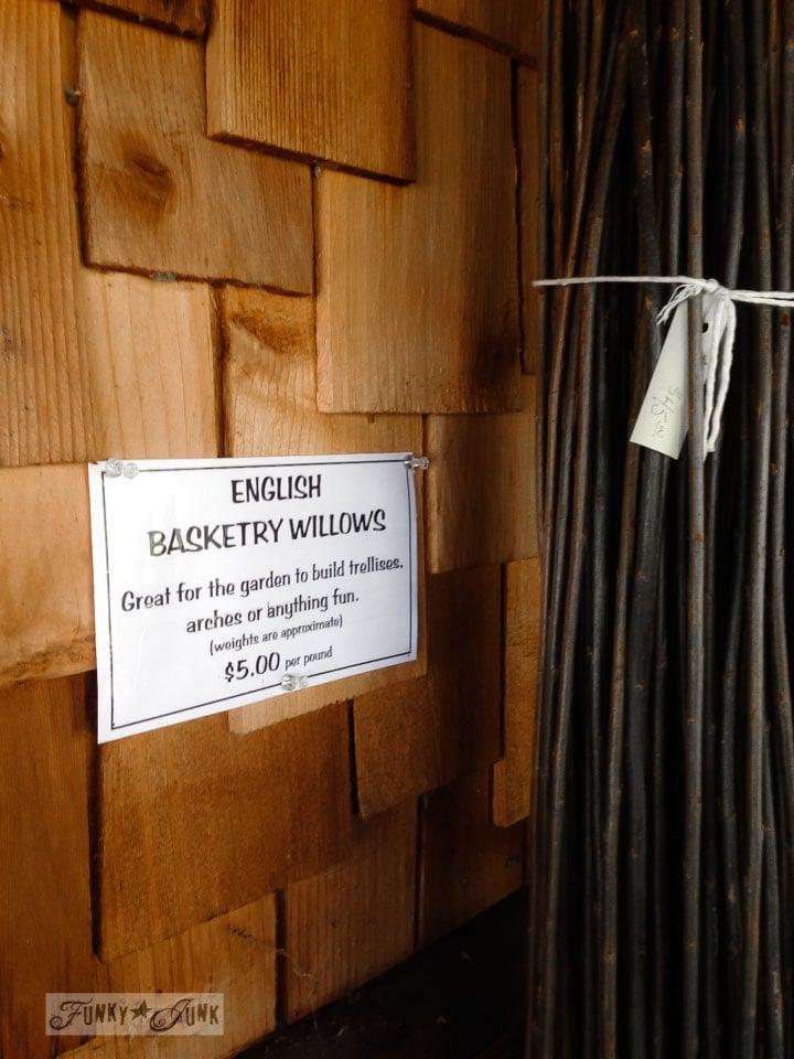 Basket willow twigs / part of 3 days of fabulous junk shopping via FunkyJunkInteriors.net