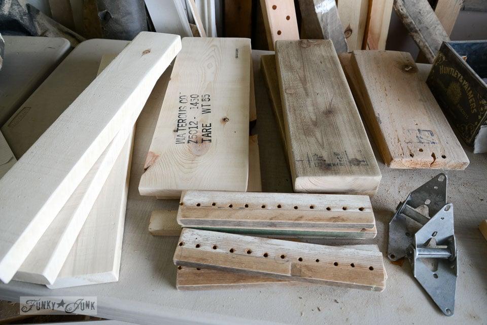 Reclaimed wood Make a stepladder side
