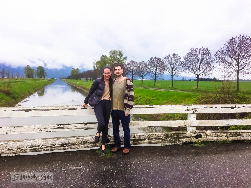 Miriam and Chaim on a canal bridge in British Columbia, Canada via FunkyJunkInteriors.net