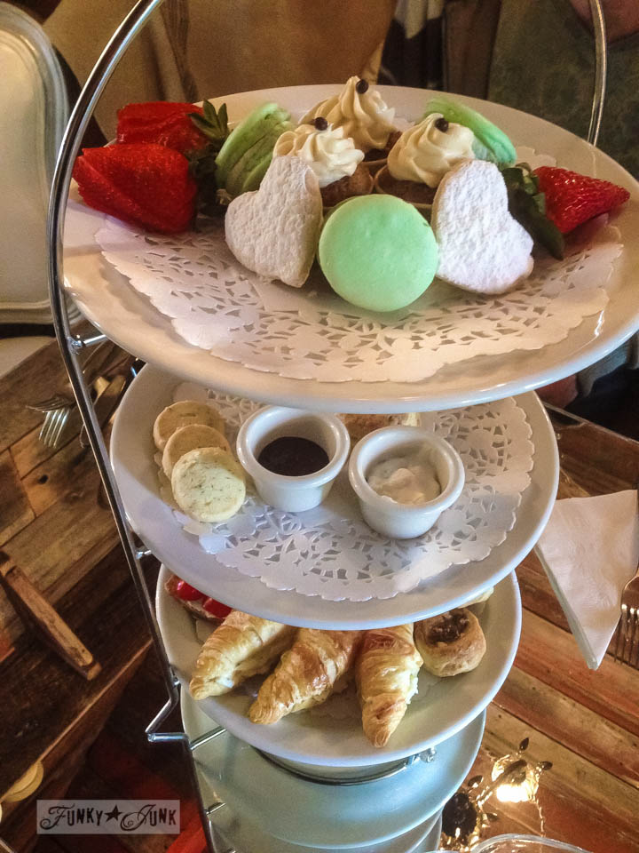 High tea at The Little Whitehouse in Langley, BC via FunkyJunkInteriors.net