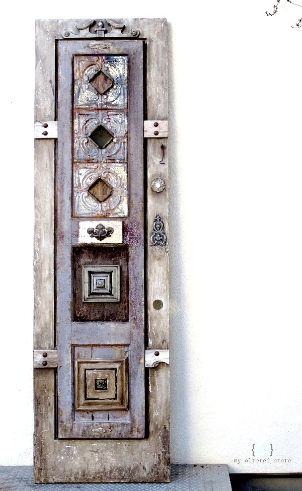 Layered old doors wall art by Altered State