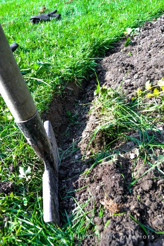 How to edge flower beds like a pro via FunkyJunkInteriors.net