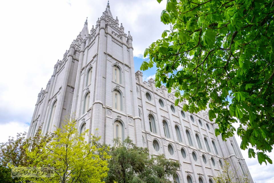 Temple Square, Salt Lake City Utah / Braving the rental car in Salt Lake City, Utah via FunkyJunkInteriors.net