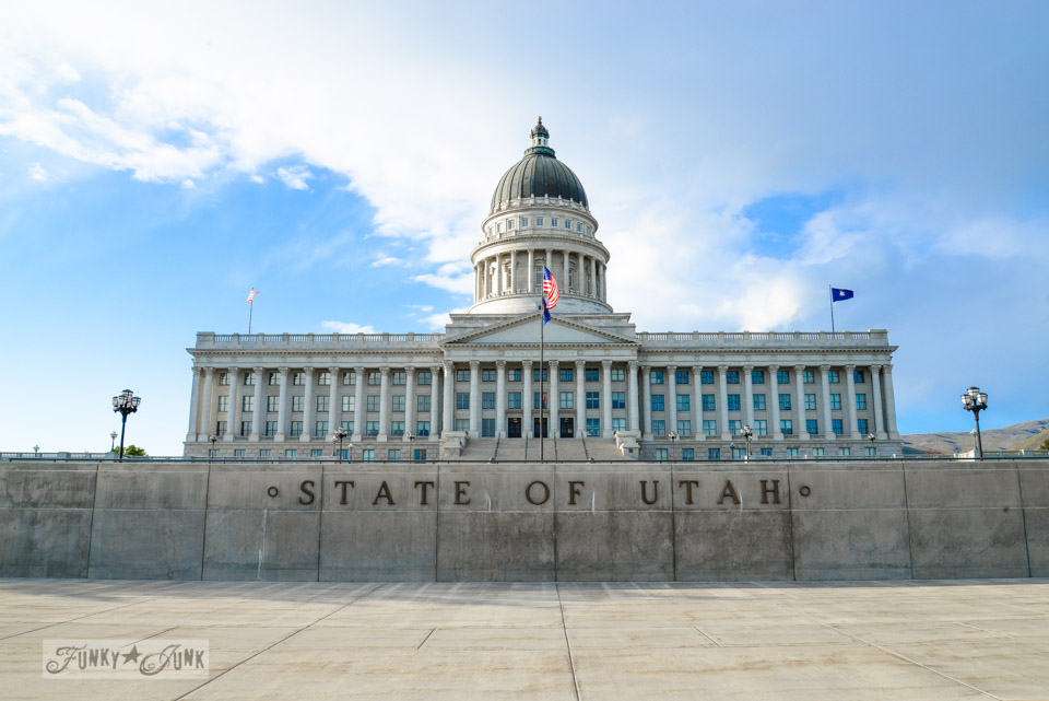 Utah State Capital building / One gorgeous photo tour of Salt Lake City, Utah, on FunkyJunkInteriors.net