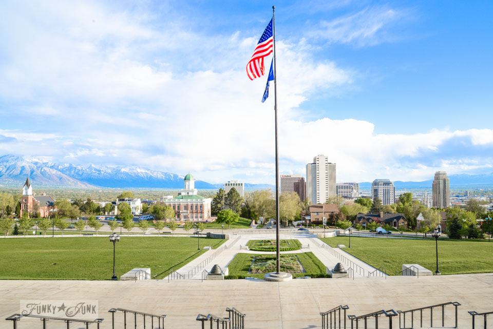 View from Utah State Capital building / One gorgeous photo tour of Salt Lake City, Utah, on FunkyJunkInteriors.net