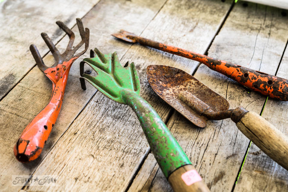 Great Rare Vintage Garden Tools   The Finishing Touch To The Shed Via  FunkyJunkInteriors.net