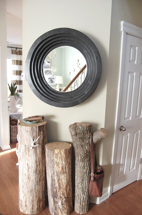 Triple stump side tables by Nesting Place