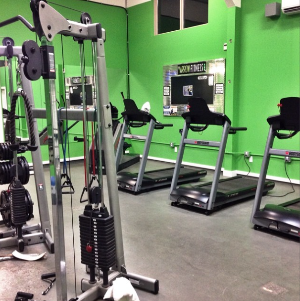 A real gym / part of 6 reasons why we joined a real gym via FunkyJunkInteriors.net