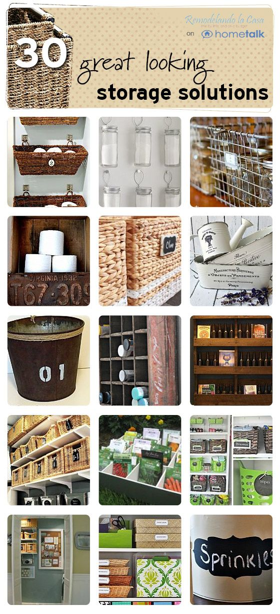 Great looking storage ideas on Hometalk, featured on FunkyJunkInteriors.net