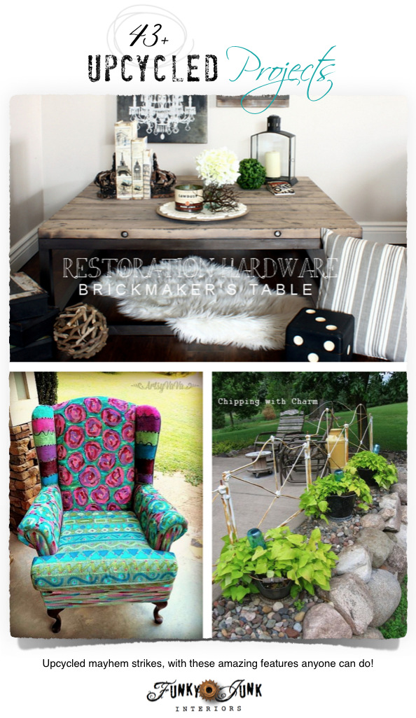 43+ upcycled projects on FunkyJunkInteriors.net