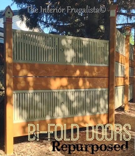BiFold Door fence by The Interior Frugalista
