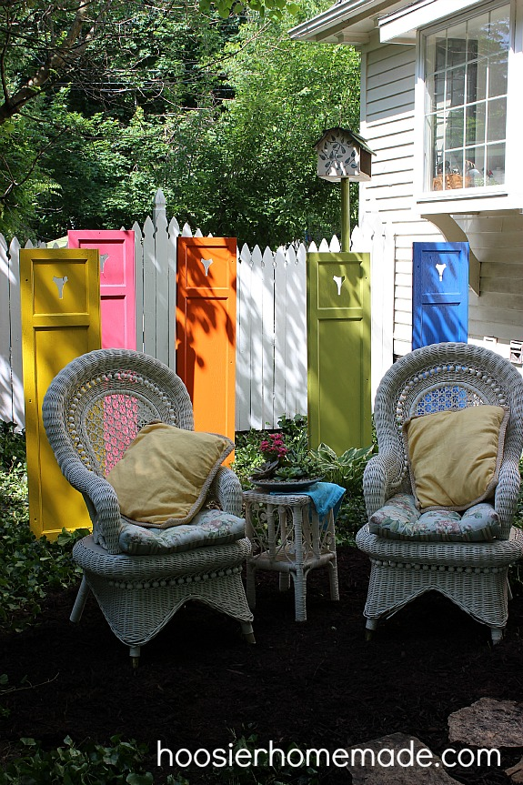 Garden art shutters, by Hoosier Homemade