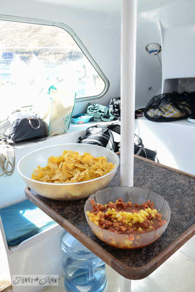 Snacks/ The best way to snorkel and snuba while on Molokini - our own tips with lots of pretty pictures via FunkyJunkInteriors.net