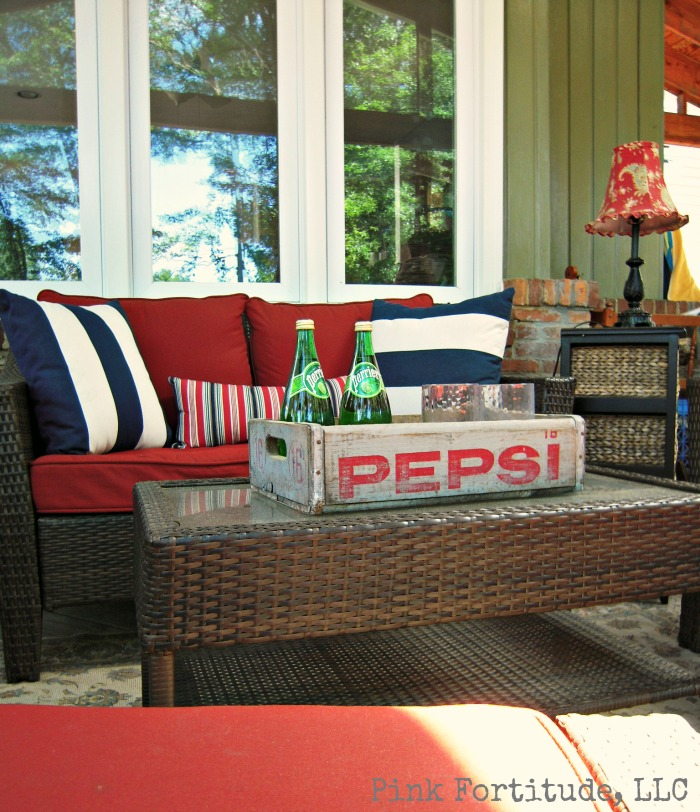 Pepsi crate patio tray by Pink Fortitude