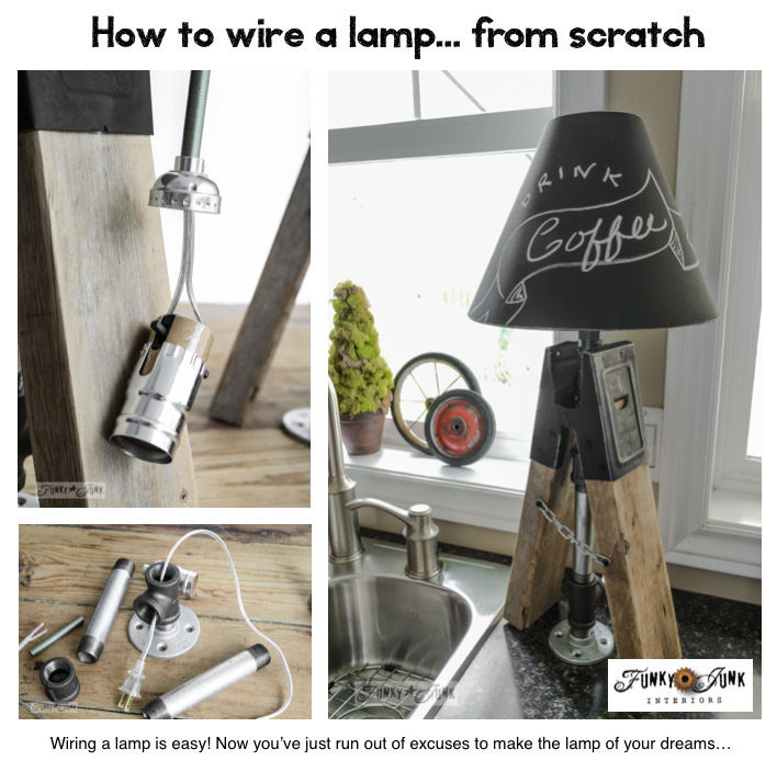 How to wire a lamp... from scratch. How and where to get the goods