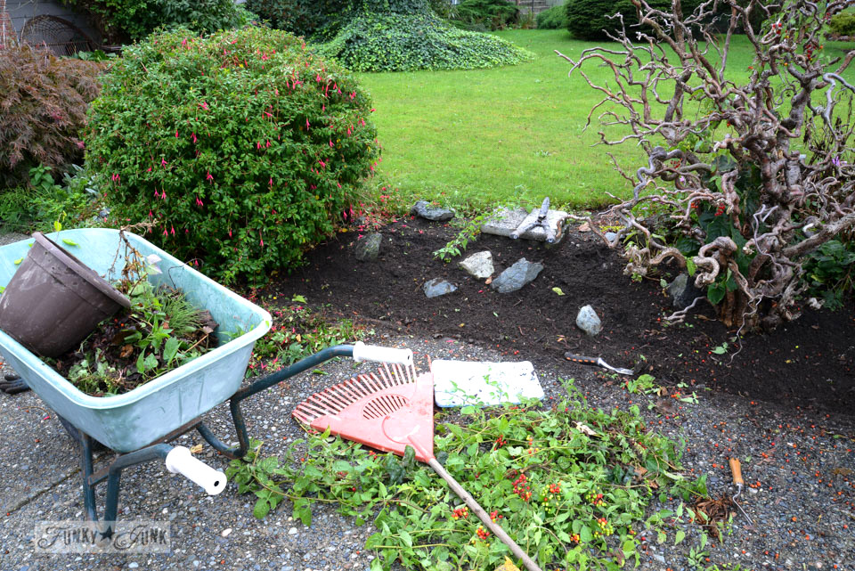 fall weeding and yard cleaning