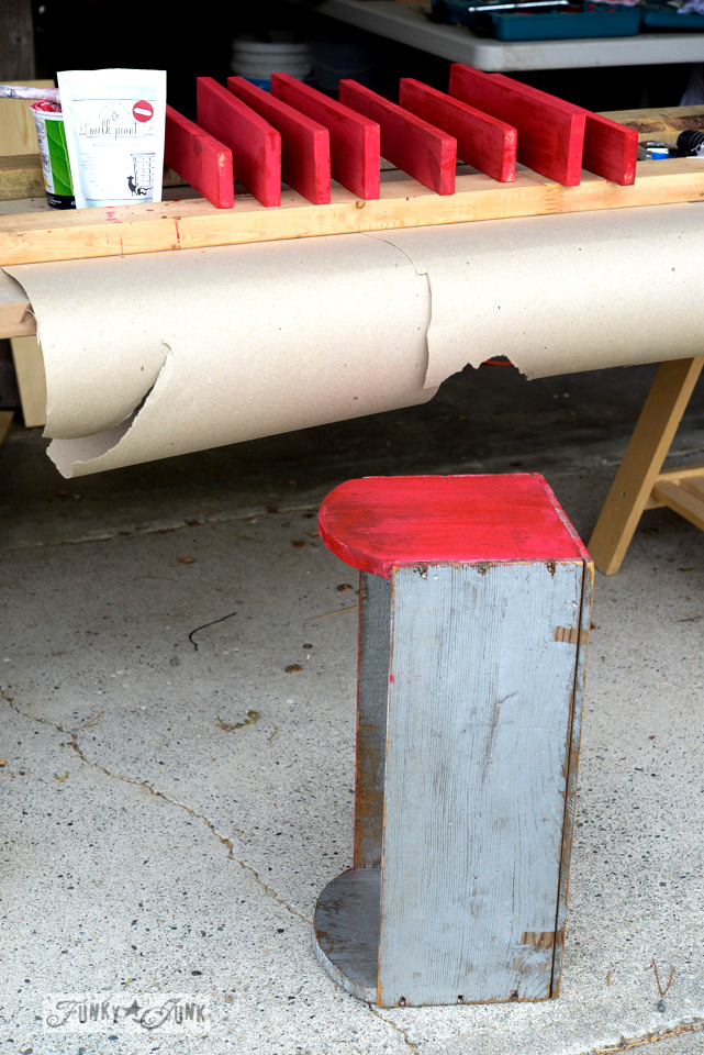 My little cheater branch and box toolbox to carry tools / FunkyJunkInteriors.net