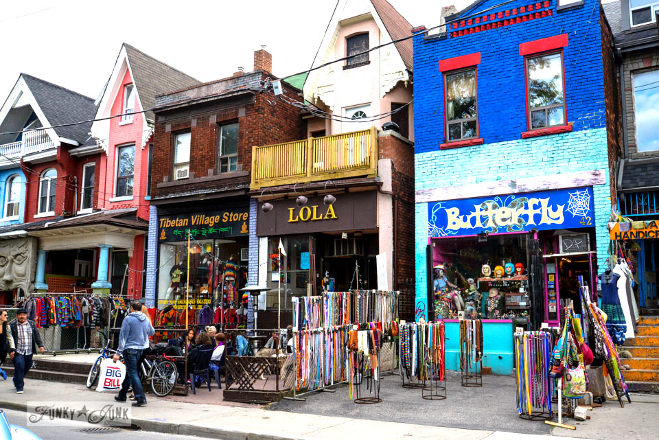 Kensington Market / CN Tower, Wicked, Graffiti Alley. Toronto? Wow. One amazing tour in one post! FunkyJunkInteriors.net
