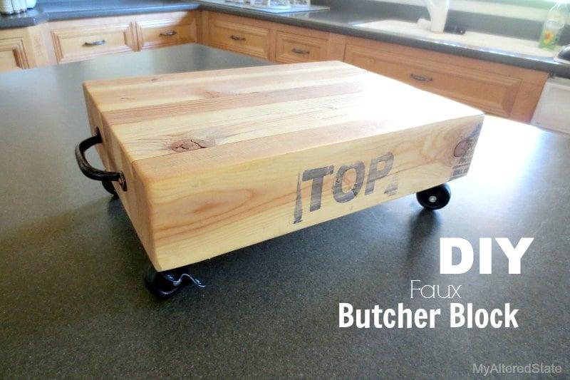 Diy Faux Butcher Block Featured Image