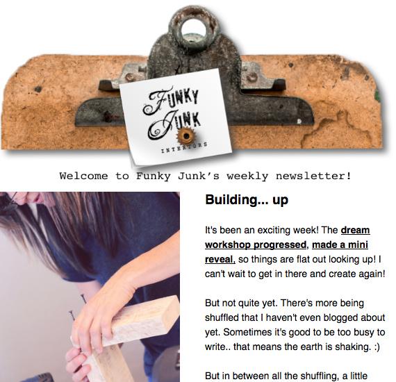 Funky Junk's newsletter