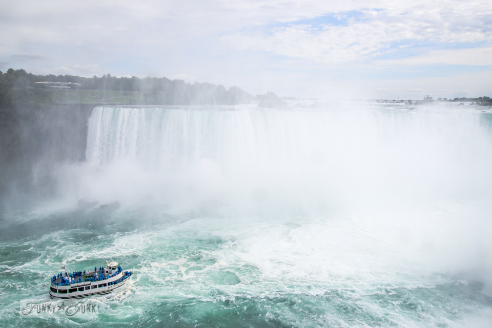 Boat ride under Niagara Falls / A bird's eye view of magnificent Niagara Falls on FunkyJunkInteriors.net
