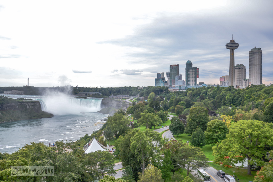 A bird's eye view of magnificent Niagara Falls on FunkyJunkInteriors.net