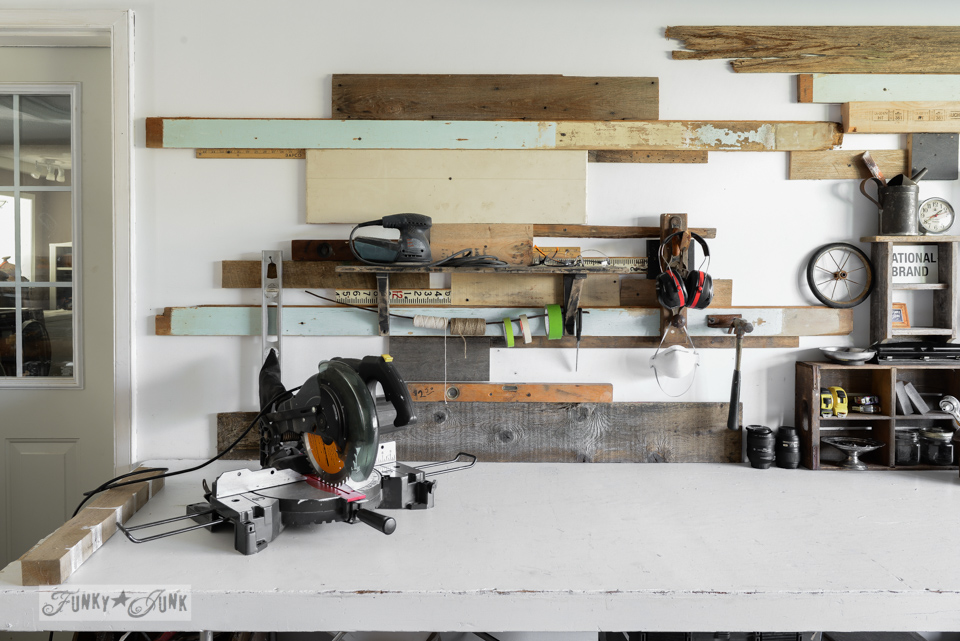 organized workshop after / 8 - Celebrating the curbside workshop rack / are you celebrating small successes along the way? via FunkyJunkInteriors.net