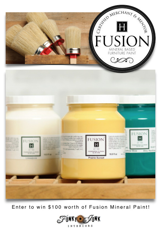 Fusion Mineral Paint giveaway on  FunkyJunkInteriors.net