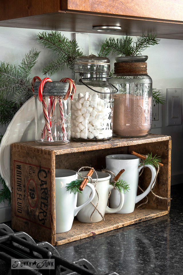 hot chocolate station kitchen / Funky Junk Interiors