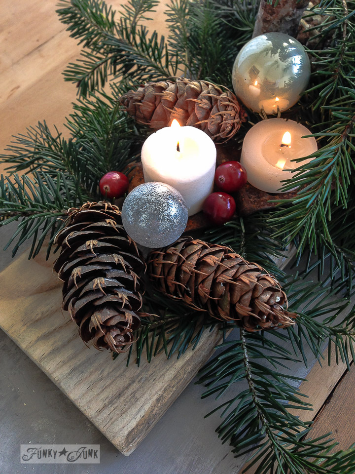 How I shop outdoors for Christmas decor / outdoor shopping tips via FunkyJunkInteriors.net