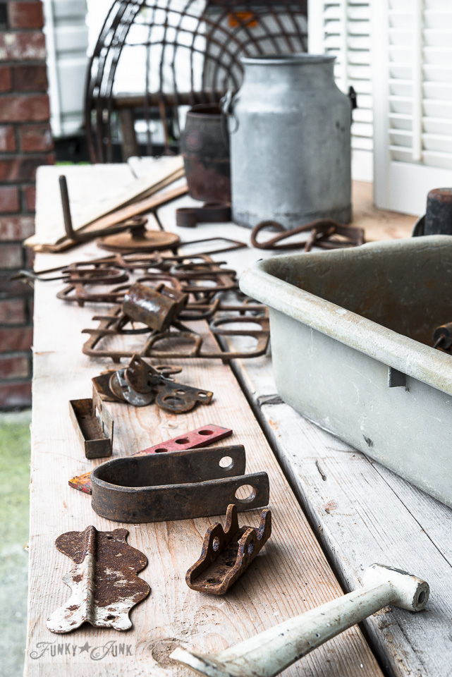 Rusty junk finds at Granny and Grumpa's Antiques in Abbotsford / FunkyJunkInteriors.net