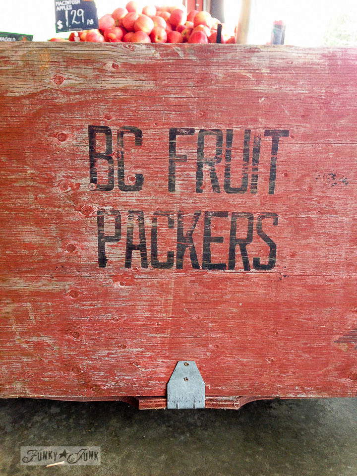 BC Fruit Packers crate markings / part of How I mentally file inspiration via FunkyJunkInteriors.net