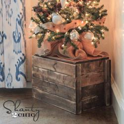 Christmas tree crate by Shanty 2 Chic