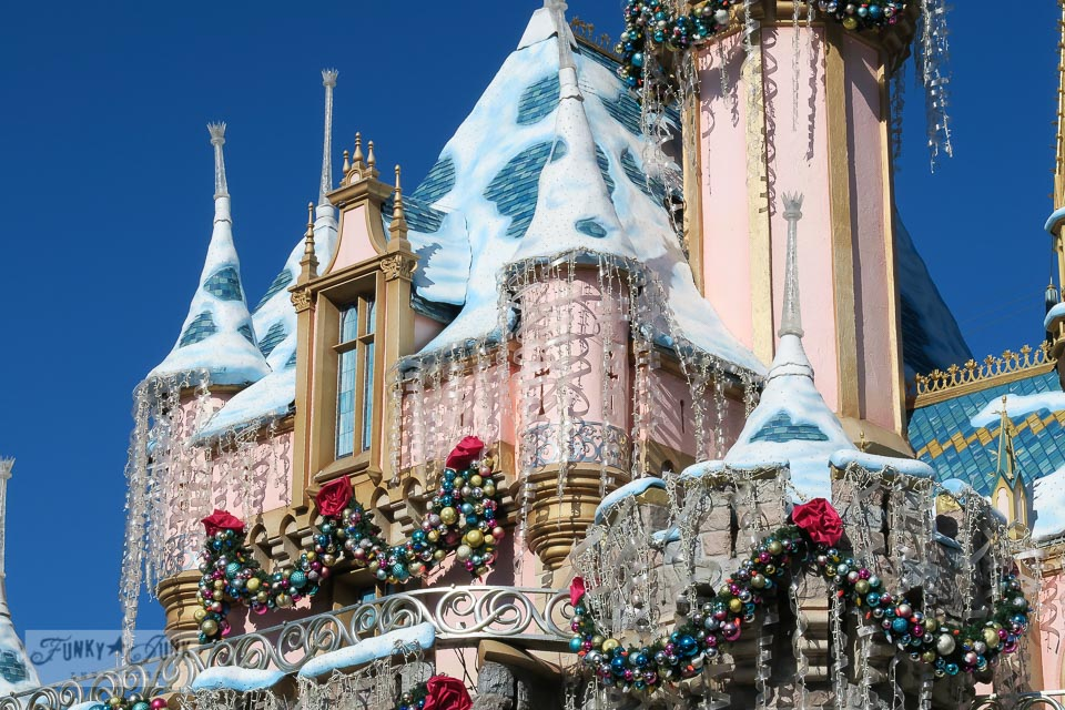 Disneyland castle at Christmas, unlit, on FunkyJunkInteriors.net