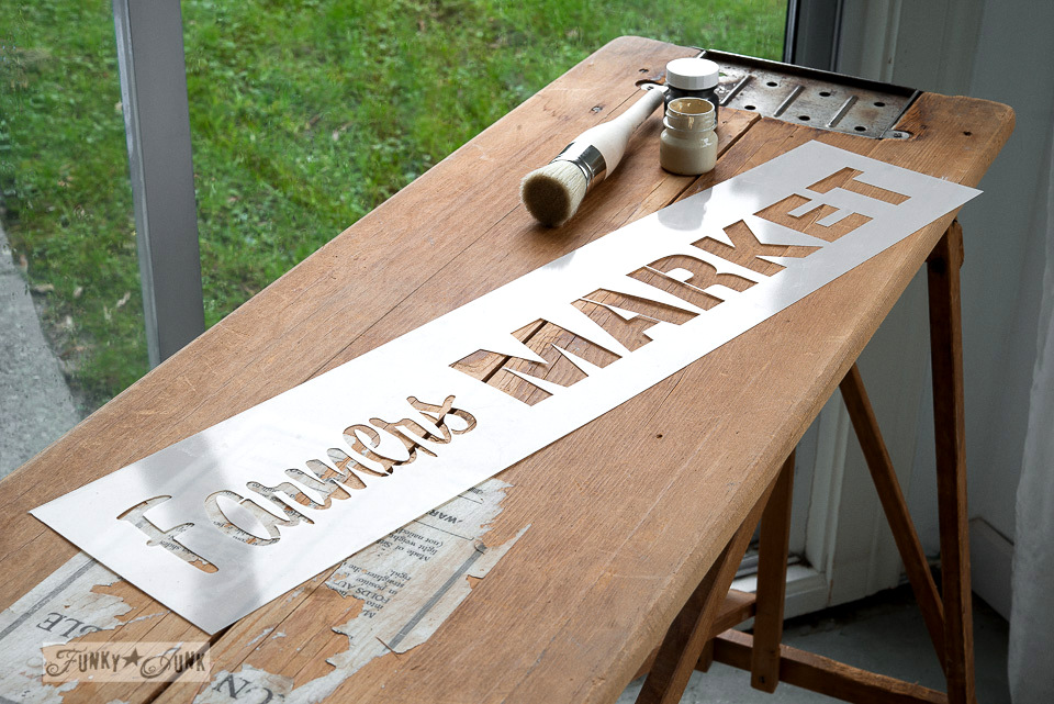 Farmers' Market / Down on the Farm old sign stencil collection / FunkyJunkInteriors.net