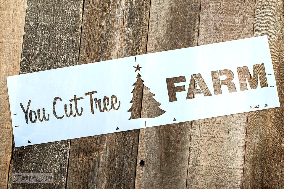 You Cut Tree Farm Christmas sign stencil | Funky Junk's Old Sign Stencils