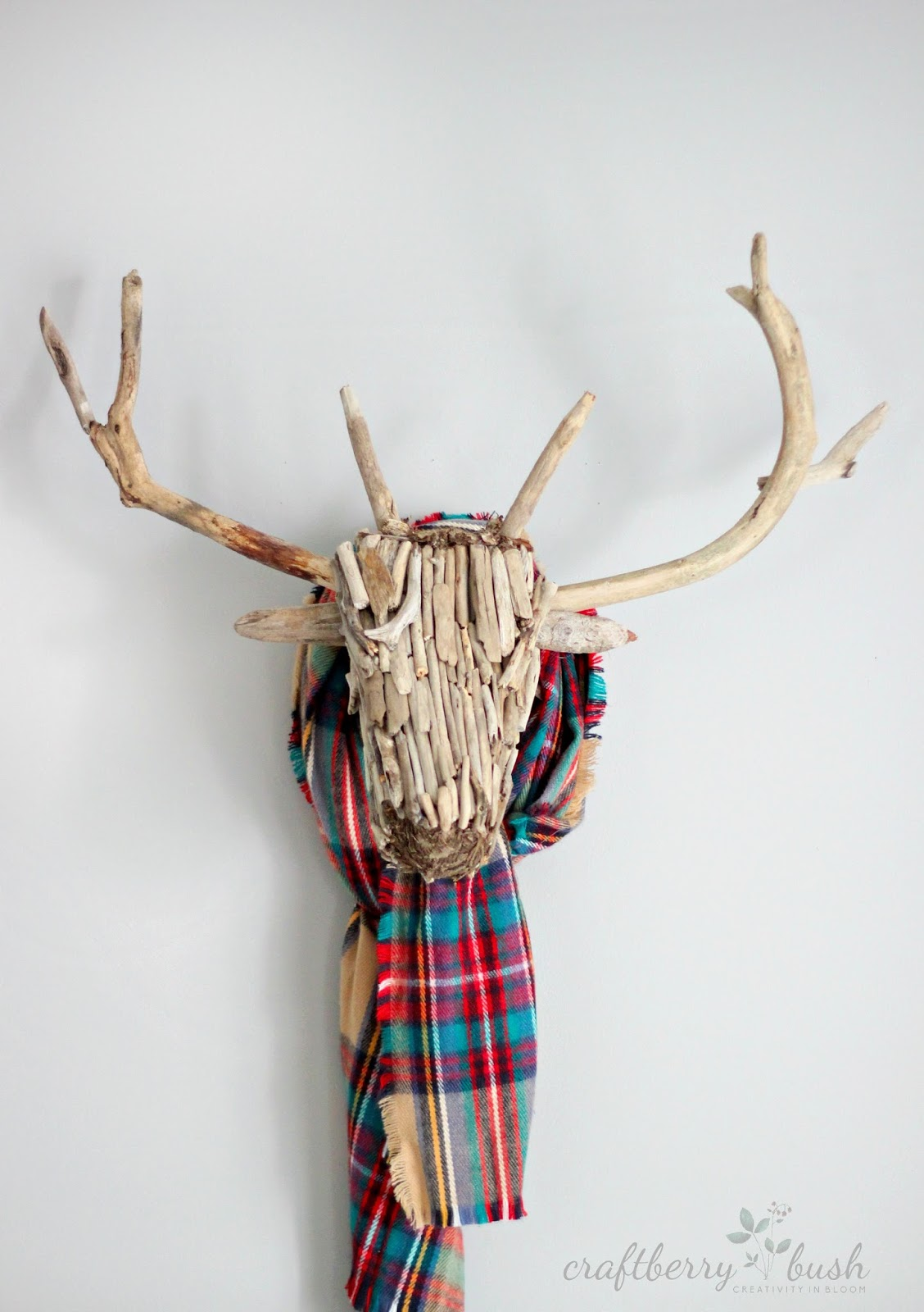 Driftwood deer head / Craftberry Bush