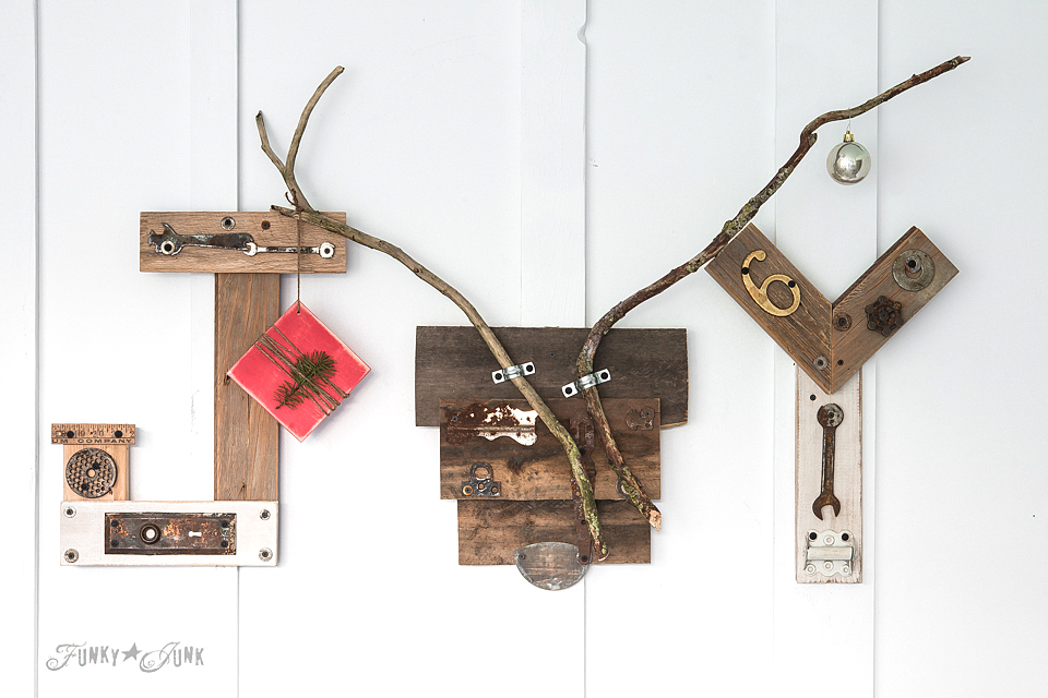 reclaimed wood deer head and antlers / funkyjunkinteriors.net