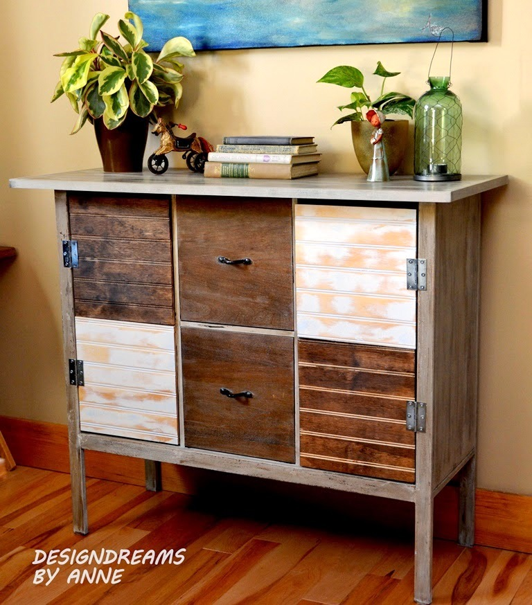 From cube shelf to reclaimed wood console, by Design Dreams by Anne