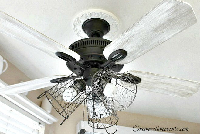 Farmhouse styled ceiling fan / One More Time Events